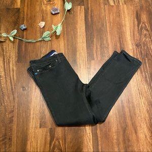 Betabrand Gray Straight Leg Jeans